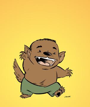 Furball the Baby Werewolf