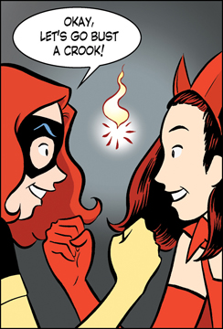Marvel Girl and Scarlet Witch go adventurin' in X-Men First Class