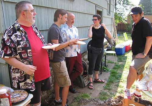 Kurt Busiek, Jeremy Barlow, Paul, me, and David Hahn